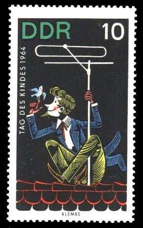 10 Pf Briefmarke: Tag des Kindes 1964