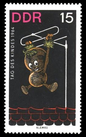 15 Pf Briefmarke: Tag des Kindes 1964