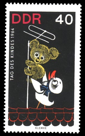 40 Pf Briefmarke: Tag des Kindes 1964