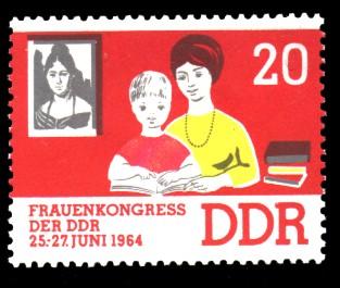 20 Pf Briefmarke: Frauenkongress der DDR