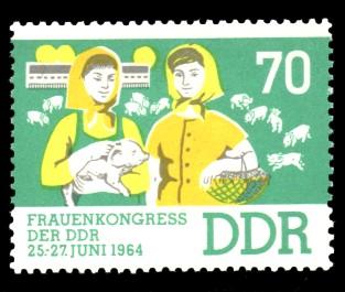 70 Pf Briefmarke: Frauenkongress der DDR
