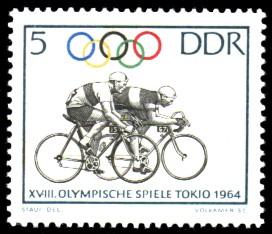 5 Pf Briefmarke: Olympische Spiele Tokio 1964