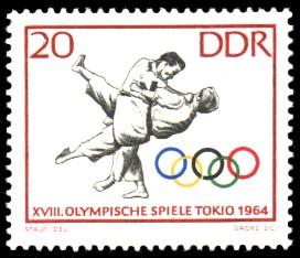 20 Pf Briefmarke: Olympische Spiele Tokio 1964