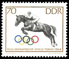 70 Pf Briefmarke: Olympische Spiele Tokio 1964