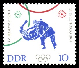 10 Pf Briefmarke: XVIII Olympische Spiele Tokio