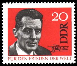 20 Pf Briefmarke: Für den Frieden der Welt, Frederic Joliot Curie
