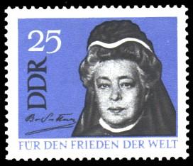 25 Pf Briefmarke: Für den Frieden der Welt, Berta von Suttner