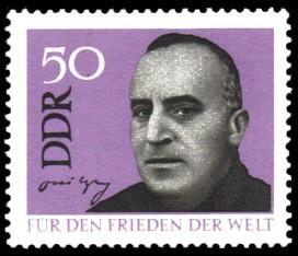 50 Pf Briefmarke: Für den Frieden der Welt, Carl von Ossietzky