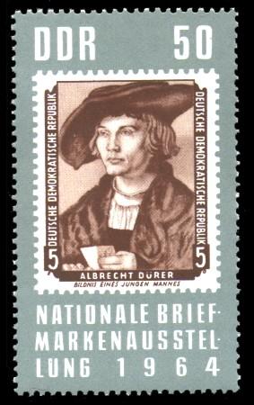 50 Pf Briefmarke: Nationale Briefmarkenausstellung 1964