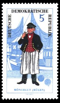 5 Pf Briefmarke: Volkstrachten, Mönchgut
