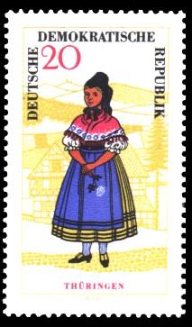 20 Pf Briefmarke: Volkstrachten, Thüringen