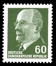 60 Pf Briefmarke: Walter Ulbricht