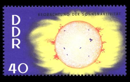 40 Pf Briefmarke: Jahre der ruhigen Sonne