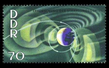 70 Pf Briefmarke: Jahre der ruhigen Sonne