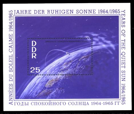 Briefmarke: Block - Jahre der ruhigen Sonne 25Pf