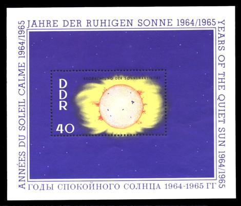 Briefmarke: Block - Jahre der ruhigen Sonne 40Pf