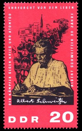 20 Pf Briefmarke: 90. Geburtstag Albert Schweitzer