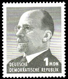 1 MDN Briefmarke: Walter Ulbricht