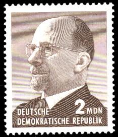 2 MDN Briefmarke: Walter Ulbricht