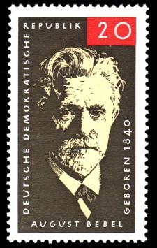 20 Pf Briefmarke: August Bebel