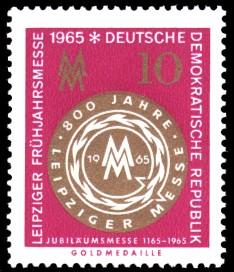 10 Pf Briefmarke: Leipziger Frühjahrsmesse 1965