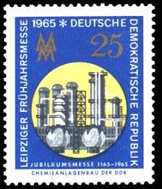 25 Pf Briefmarke: Leipziger Frühjahrsmesse 1965