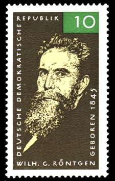 10 Pf Briefmarke: Wilhelm Conrad Röntgen