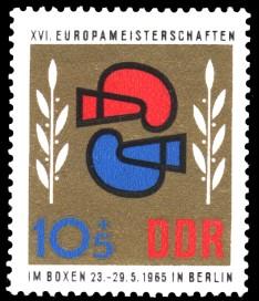 10 + 5 Pf Briefmarke: 16. Europameisterschaften im Boxen