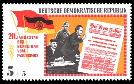5 + 5 Pf Briefmarke: 20 Jahre Befreiung vom Faschismus