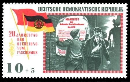 10 + 5 Pf Briefmarke: 20 Jahre Befreiung vom Faschismus