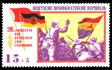 15 + 5 Pf Briefmarke: 20 Jahre Befreiung vom Faschismus