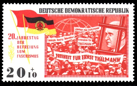 20 + 10 Pf Briefmarke: 20 Jahre Befreiung vom Faschismus