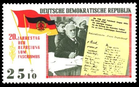 25 + 10 Pf Briefmarke: 20 Jahre Befreiung vom Faschismus