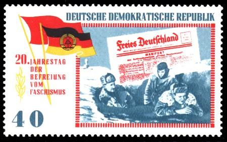 40 Pf Briefmarke: 20 Jahre Befreiung vom Faschismus