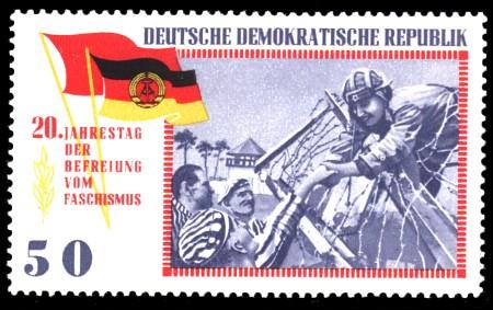 50 Pf Briefmarke: 20 Jahre Befreiung vom Faschismus