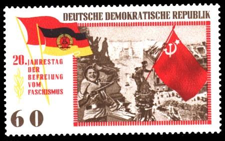 60 Pf Briefmarke: 20 Jahre Befreiung vom Faschismus
