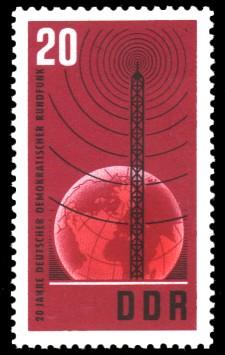 20 Pf Briefmarke: 20 Jahre Rundfunk