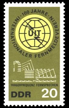 20 Pf Briefmarke: 100 Jahre Internationaler Fernmeldeverein