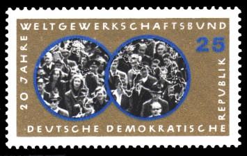 25 Pf Briefmarke: 20 Jahre WGB