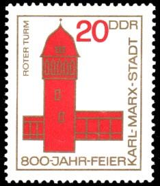20 Pf Briefmarke: 800 Jahre Karl-Marx-Stadt