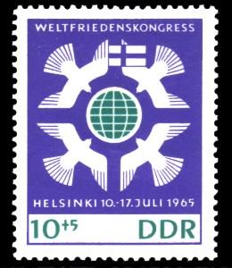 10 + 5 Pf Briefmarke: Weltfriedenskongress