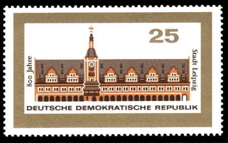 25 Pf Briefmarke: 800 Jahre Stadt Leipzig
