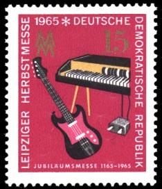 15 Pf Briefmarke: Leipziger Herbstmesse 1965