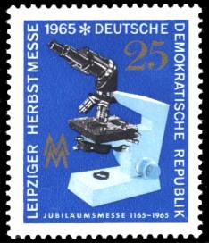 25 Pf Briefmarke: Leipziger Herbstmesse 1965