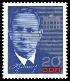 20 Pf Briefmarke: Kosmonautenbesuch in der DDR, Leonow