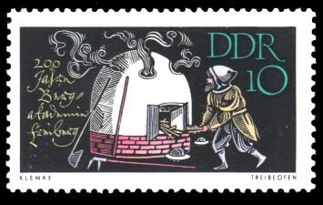 10 Pf Briefmarke: 200 Jahre Bergakademie Freiberg