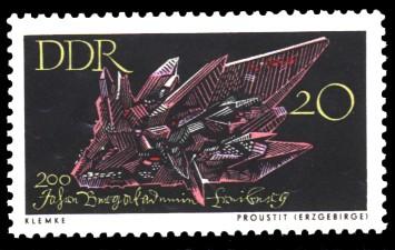 20 Pf Briefmarke: 200 Jahre Bergakademie Freiberg