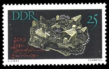 25 Pf Briefmarke: 200 Jahre Bergakademie Freiberg