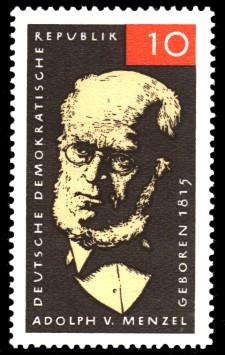 10 Pf Briefmarke: Adolph von Menzel