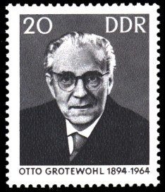 20 Pf Briefmarke: 1. Todestag Otto Grotewohl